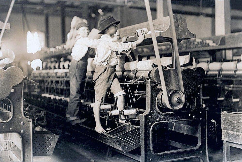 maquinas textiles industriales trabajadores
